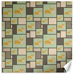 Quirky Corgi Kraft Present Gift Wrap Wrapping Paper Canvas 12  X 12