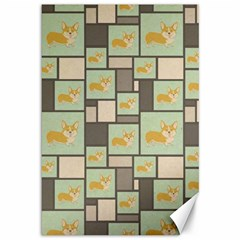 Quirky Corgi Kraft Present Gift Wrap Wrapping Paper Canvas 12  X 18