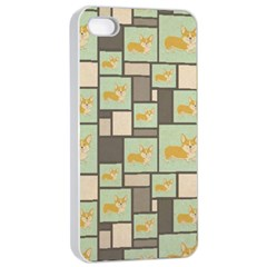 Quirky Corgi Kraft Present Gift Wrap Wrapping Paper Apple Iphone 4/4s Seamless Case (white)