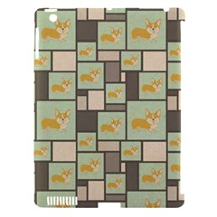 Quirky Corgi Kraft Present Gift Wrap Wrapping Paper Apple Ipad 3/4 Hardshell Case (compatible With Smart Cover)