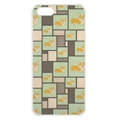 Quirky Corgi Kraft Present Gift Wrap Wrapping Paper Apple Iphone 5 Seamless Case (white)