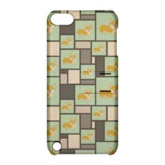 Quirky Corgi Kraft Present Gift Wrap Wrapping Paper Apple Ipod Touch 5 Hardshell Case With Stand