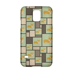 Quirky Corgi Kraft Present Gift Wrap Wrapping Paper Samsung Galaxy S5 Hardshell Case