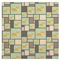Quirky Corgi Kraft Present Gift Wrap Wrapping Paper Large Satin Scarf (square)