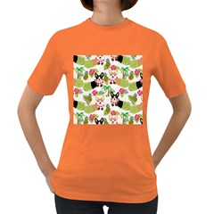 Hula Corgis Fabric Women s Dark T Shirt