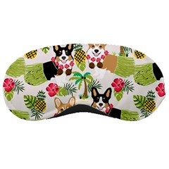 Hula Corgis Fabric Sleeping Masks