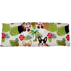 Hula Corgis Fabric Body Pillow Case Dakimakura (two Sides)