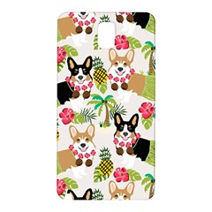 Hula Corgis Fabric Samsung Galaxy Note 3 N9005 Hardshell Back Case