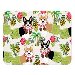 Hula Corgis Fabric Double Sided Flano Blanket (large)