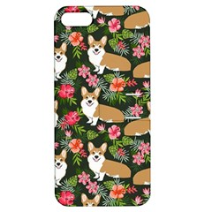Welsh Corgi Hawaiian Pattern Florals Tropical Summer Dog Apple Iphone 5 Hardshell Case With Stand