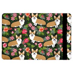 Welsh Corgi Hawaiian Pattern Florals Tropical Summer Dog Ipad Air 2 Flip