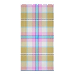 Pink And Yellow Plaid Shower Curtain 36  X 72  (stall)