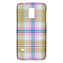 Pink And Yellow Plaid Galaxy S5 Mini