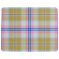 Pink And Yellow Plaid Jigsaw Puzzle Photo Stand (rectangular)