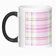 Pink Pastel Plaid Morph Mugs