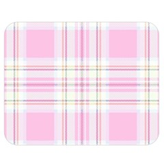 Pink Pastel Plaid Double Sided Flano Blanket (medium)