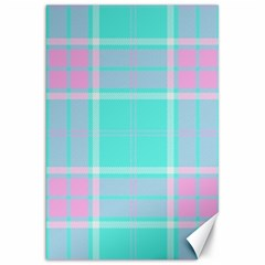 Blue And Pink Pastel Plaid Canvas 20  X 30