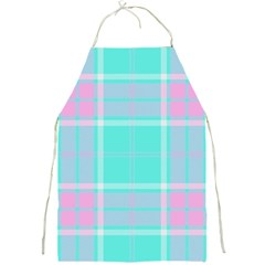 Blue And Pink Pastel Plaid Full Print Aprons