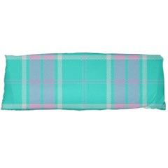 Blue And Pink Pastel Plaid Body Pillow Case (dakimakura)
