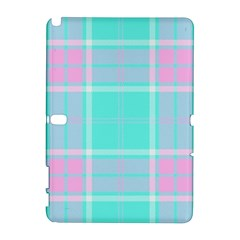 Blue And Pink Pastel Plaid Galaxy Note 1