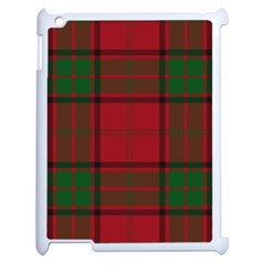 Red And Green Tartan Plaid Apple Ipad 2 Case (white)
