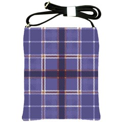 Purple Heather Plaid Shoulder Sling Bags