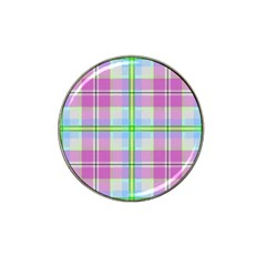 Pink And Blue Plaid Hat Clip Ball Marker