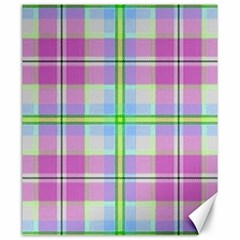 Pink And Blue Plaid Canvas 20  X 24