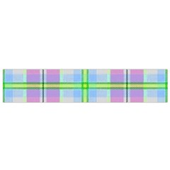 Pink And Blue Plaid Small Flano Scarf