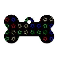 Spray Stars Pattern A Dog Tag Bone (two Sides)
