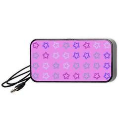 Spray Stars Pattern C Portable Speaker