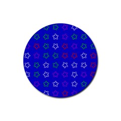 Spray Stars Pattern E Rubber Round Coaster (4 Pack)