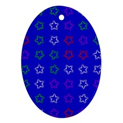 Spray Stars Pattern E Oval Ornament (two Sides)