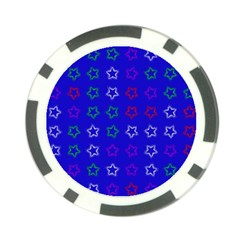Spray Stars Pattern E Poker Chip Card Guard
