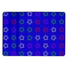 Spray Stars Pattern E Samsung Galaxy Tab 10 1  P7500 Flip Case