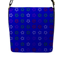 Spray Stars Pattern E Flap Messenger Bag (l)
