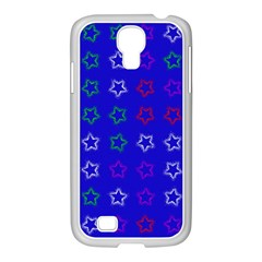Spray Stars Pattern E Samsung Galaxy S4 I9500/ I9505 Case (white)