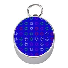 Spray Stars Pattern E Mini Silver Compasses