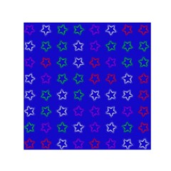 Spray Stars Pattern E Small Satin Scarf (square)