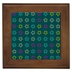 Spray Stars Pattern F Framed Tiles