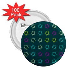 Spray Stars Pattern F 2 25  Buttons (100 Pack)