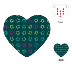 Spray Stars Pattern F Playing Cards (heart)