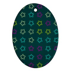 Spray Stars Pattern F Oval Ornament (two Sides)