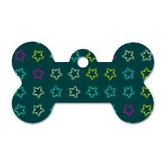 Spray Stars Pattern F Dog Tag Bone (two Sides)