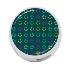 Spray Stars Pattern F 4 Port Usb Hub (two Sides)