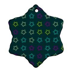 Spray Stars Pattern F Snowflake Ornament (two Sides)