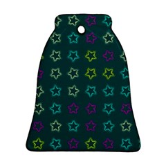 Spray Stars Pattern F Bell Ornament (two Sides)