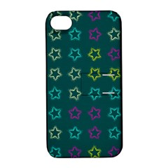 Spray Stars Pattern F Apple Iphone 4/4s Hardshell Case With Stand