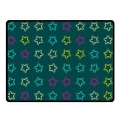 Spray Stars Pattern F Double Sided Fleece Blanket (small)
