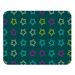 Spray Stars Pattern F Double Sided Flano Blanket (large)